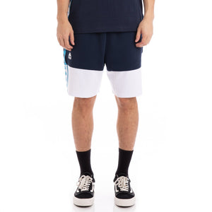 Kappa 222 AUTHENTIC BIPLUS BLUE NAVY WHITE SHORTS - Moesports