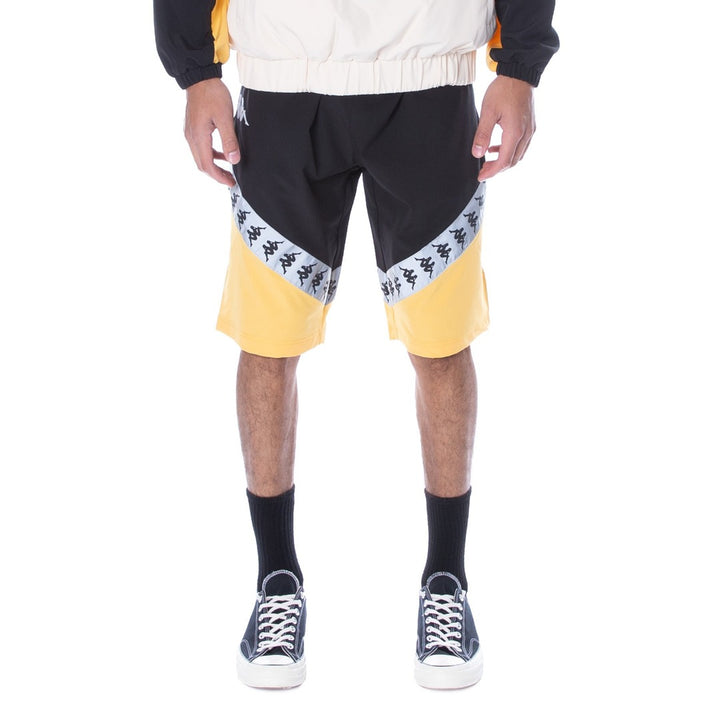 Kappa AUTHENTIC 222 BANDA AMARUC SHORTS Men's - BLACK-YELLOW-GREYREFLECT