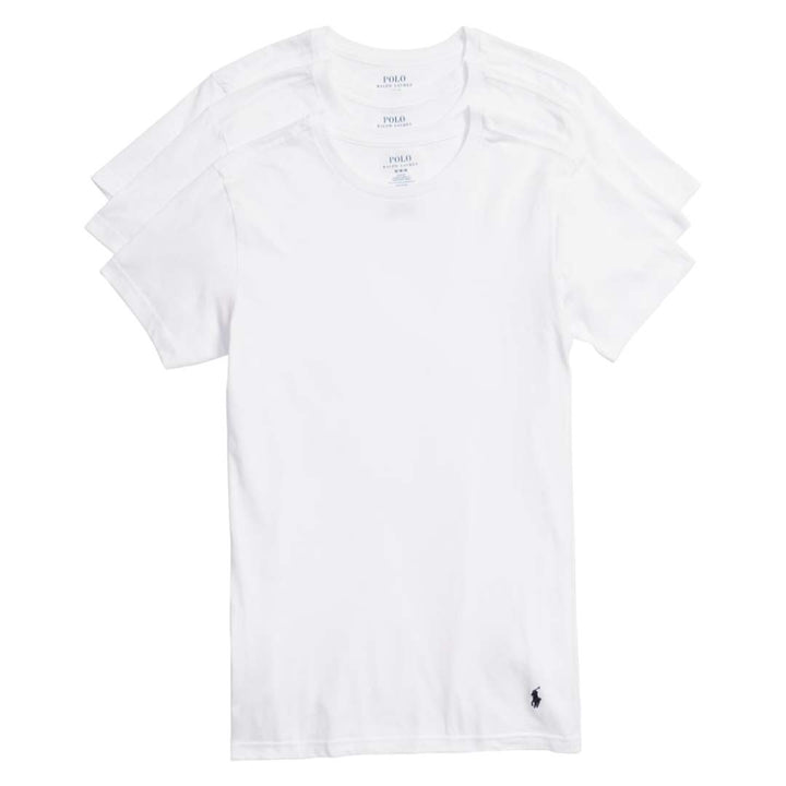 Polo Ralph Lauren CREW NECK SLIM FIT T-Shirt 3 PACK Men's - WHITE