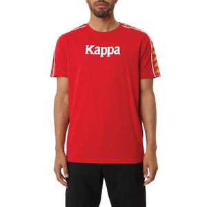 Kappa AUTHENTIC BENDOC MAN TEE Men's -RED - YELLOW DK - BLUE  DK - WHITE