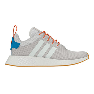 Adidas Original NMD_R2 SUMMER Men's - CRYSTAL WHITE S16/GREY ONE F17/GUM 3 - Moesports