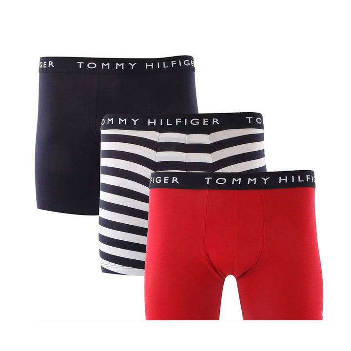 Tommy Hilfiger 3 PACK CLASSIC BOXER BRIEF Men's - NAVY WHITE/RED - Moesports