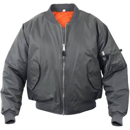 Rothco MA-1 FLIGHT JACKET Men's - GUN METAL GREY - Moesports