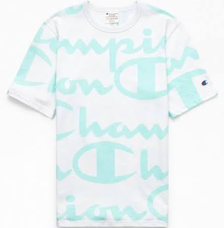 Champion GIANT CHP SC HERITAGE TEE - AOP Men's -  WATERFALL GR - Moesports