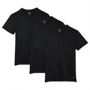 Polo Ralph Lauren CREWNECK CLASSIC FIT T-Shirt 3 PACK Men's - BLACK
