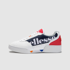 Ellesse PIACENTINO 2.0 LTHR AM Men's - WHITE/NAVY/RED - Moesports