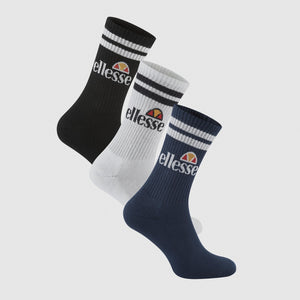 Ellesse PULLO SOCK (3 PACK) Men's - NAVY/WHT/BLK - Moesports
