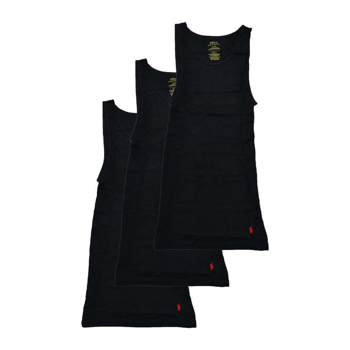 Polo Ralph Lauren - V-NECK CLASSIC FIT Tank Top 3 PACK Men's - BLACK