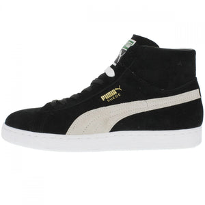 Puma SUEDE MID CLASSIC+ Men's - BLACK-WHITE - Moesports