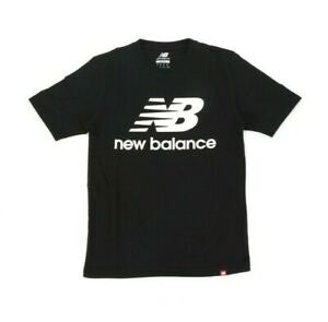 New Balance ATHLETIC ESSE ST LOGO TEE Men's - BLACK/WHITE - Moesports
