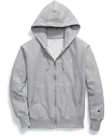 Champion FLC ZIP HOOD Men's - OXFORD GRAY - Moesports