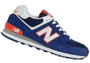New Balance 574 Classics Men's - DEEP BLUE/ORANGE/GRAY/WHITE/BLACK - Moesports