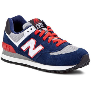 New Balance 574 Classics Men's - NAVY BLUE/RED/WHITE/GRAY - Moesports