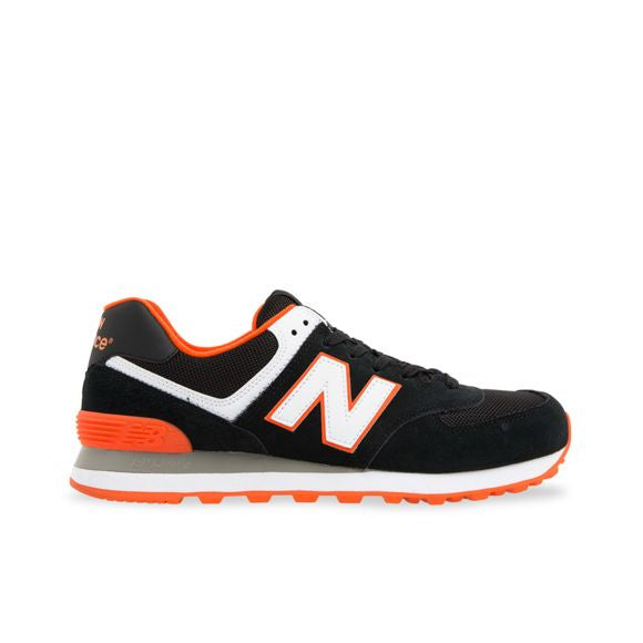 New Balance 574 Classics Men's - BLACK/ORANGE/WHITE - Moesports