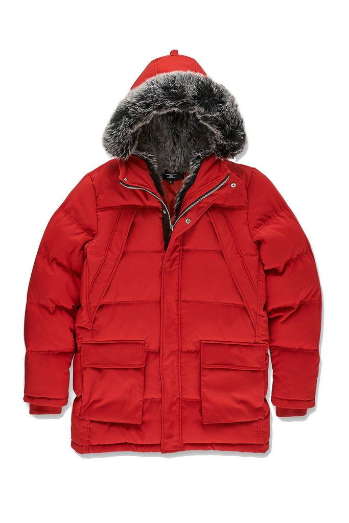 Jordan Craig LEGACY EDITION  HEAVY QUILTED PARKA W FUR Men's - RED