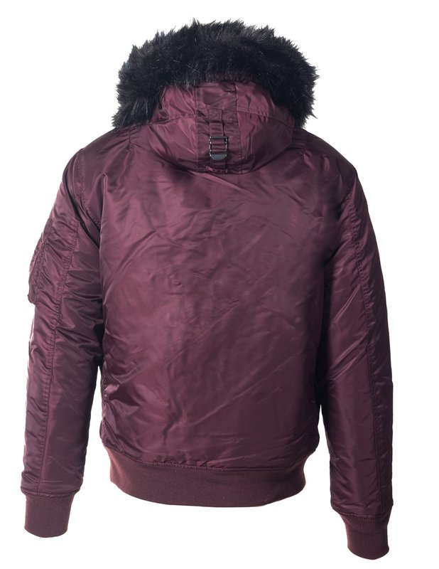 Schott N.Y.C  NYLON FLIGHT SATIN N3B - BURGUNDY - Moesports