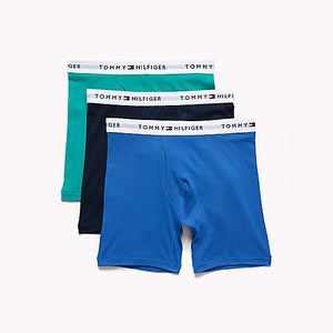 Tommy Hilfiger 3 PACK CLASSIC BOXER BRIEF Men's - TEAL/ROYAL/NAVY