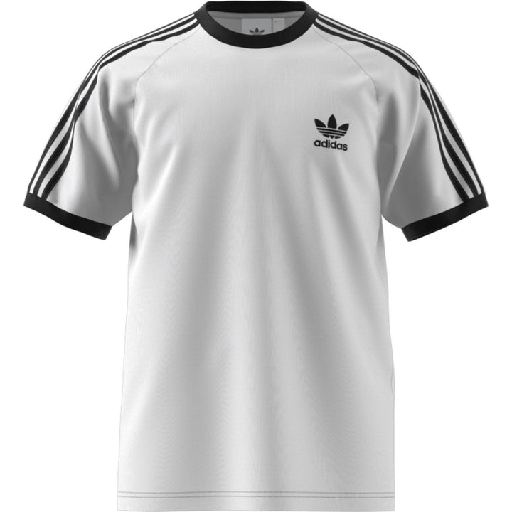 Adidas Original 3-STRIPES TEE Men's - WHITE/BLANC - Moesports