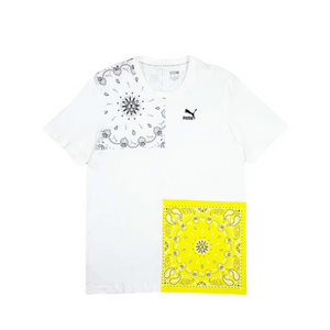 PUMA OB PATCHWORK T-SHIRT-Men's - PUMA WHITE
