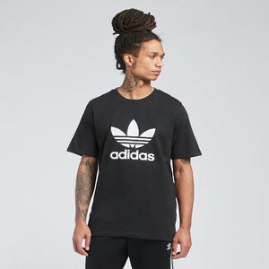 Adidas Original 3-TREFOIL T-SHIRT TEE Men's - BLACK WHITE