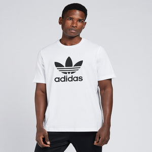 Adidas Original 3-TREFOIL T-SHIRT TEE Men's -  WHITE BLACK