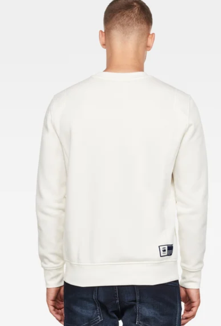 G-Star GSRAW GR R SW L\S SWEATER Men's - MILK - Moesports