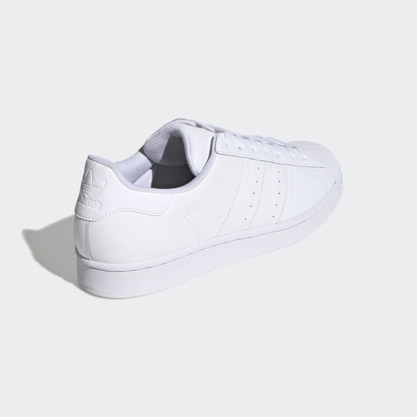 Adidas Original SUPERSTAR FOUNDATION Men's - WHITE/WHITE - Moesports