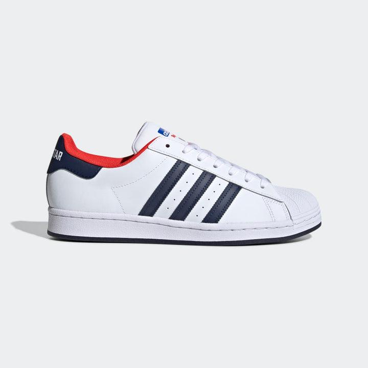 Adidas Original SUPERSTAR Men's - FTWWHT/CONAVY/RED - Moesports