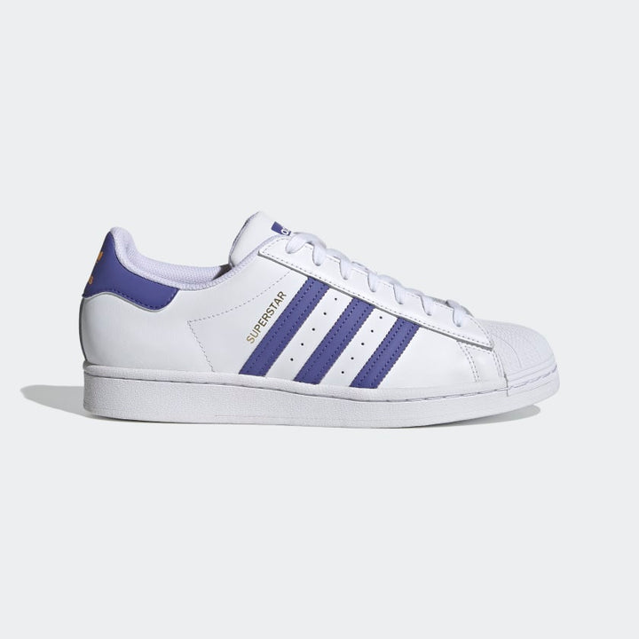 Adidas Original SUPERSTAR Men's - WHITE /PURPLE /YELLOW