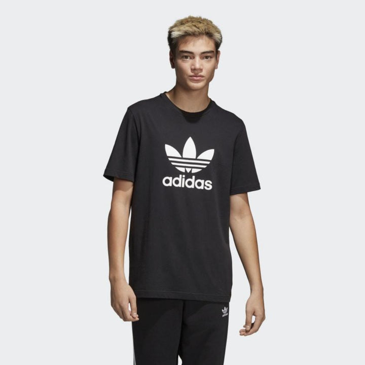 Adidas Original TREFOIL T-SHIRT Men's - BLACK/WHITE - Moesports