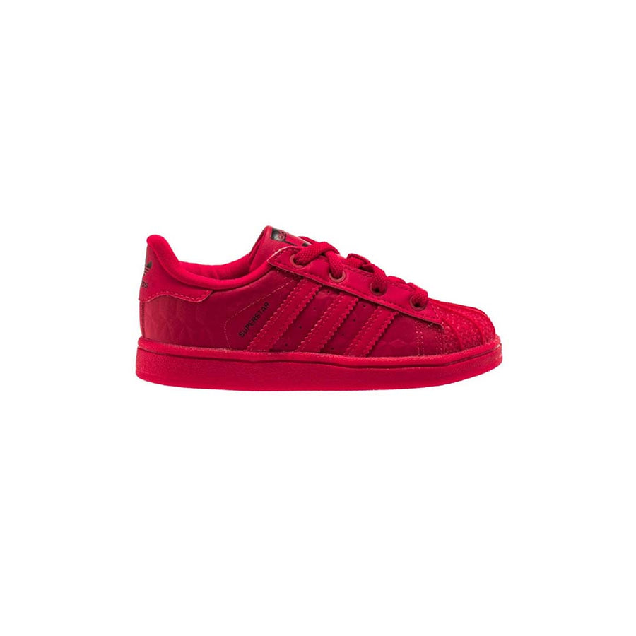 Adidas Original SUPERSTAR TRIPLE RED EL Infant's - RAYRED/RAYRED/CBLACK/ROURAY/ROURAY/NOIESS - Moesports