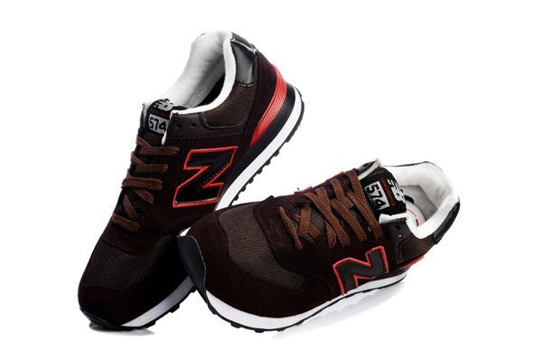 New Balance Classics 574 Men's - BROWN/RED - Moesports