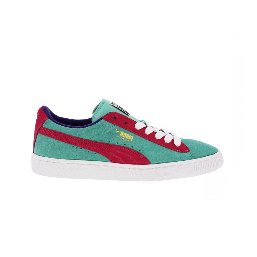 Puma - SUEDE Junior's - GREEN-PURPLE-TEAM GOLD - Moesports