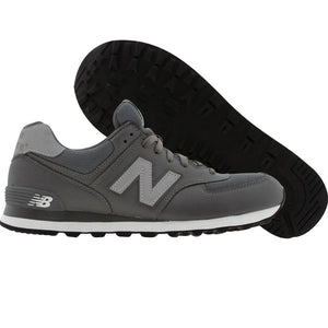 New Balance 574 Classics Men's - LEATHER GRAY/WHITE - Moesports