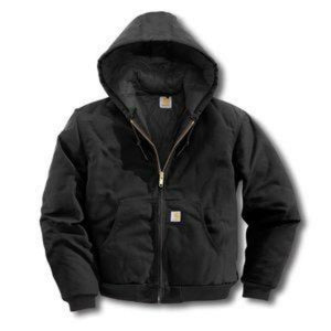 Carhartt HOODY JACKET Men's - BLACK - Moesports