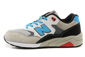 New Balance Classics 580 Men's - GREY/WHITE/BLACK/SKYBLUE/RED - Moesports