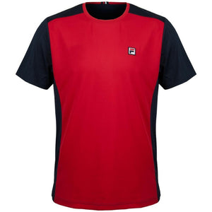 Fila HERITAGE COLOR BLOCKED CREW Men's - CHINESE RED/PEACOAT - Moesports