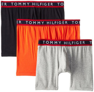 Tommy Hilfiger 3 PACK BOXERS BRIEF Men's - ORANGE/GREY/BLACK - Moesports