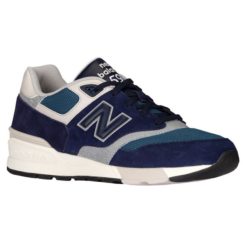 New Balance 597 Classics Men's - DEEP NAVY/GRAY/CREAM/AQUA BLUE - Moesports