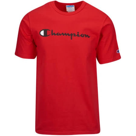 Champion JSY SS TEE Men's - TEAM RED SCA/BLACK - Moesports