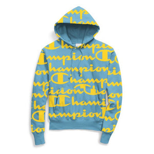 Champion RW PO HOOD W/AOP Men's - BLUE/YELLOW - Moesports
