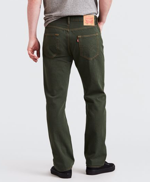 Levis Strauss & Co - 501 ORIGINAL STRAIGHT LEG Men's - OLIVE GREEN - Moesports