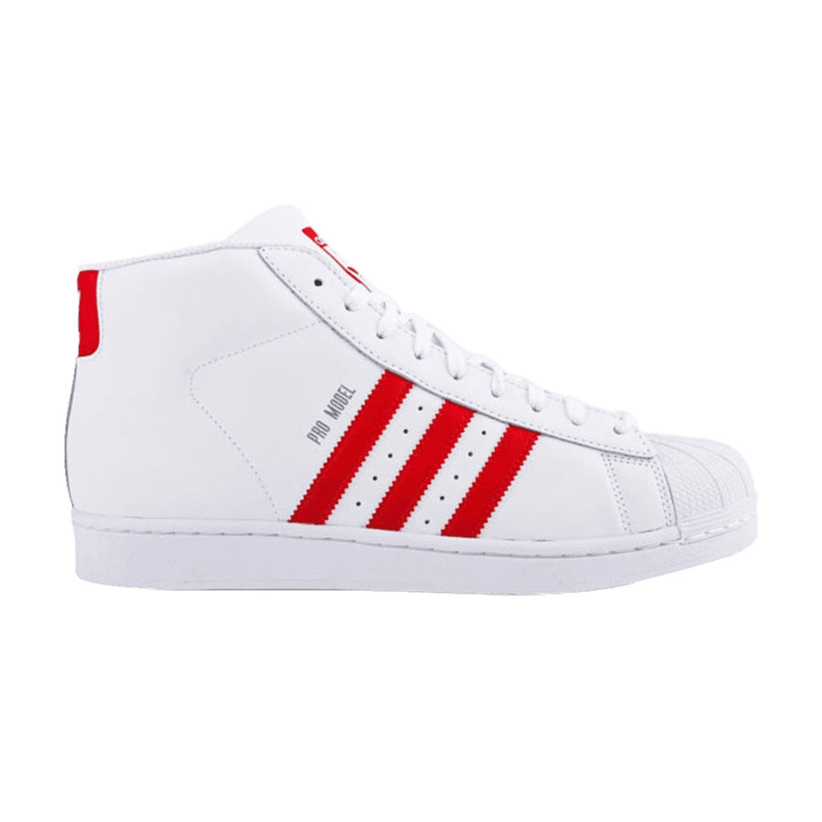 Adidas Original Pro Model Men's -  FTWWHT/RED/FTWWHT/FTWBLA/ROUGE/FTWBLA - Moesports