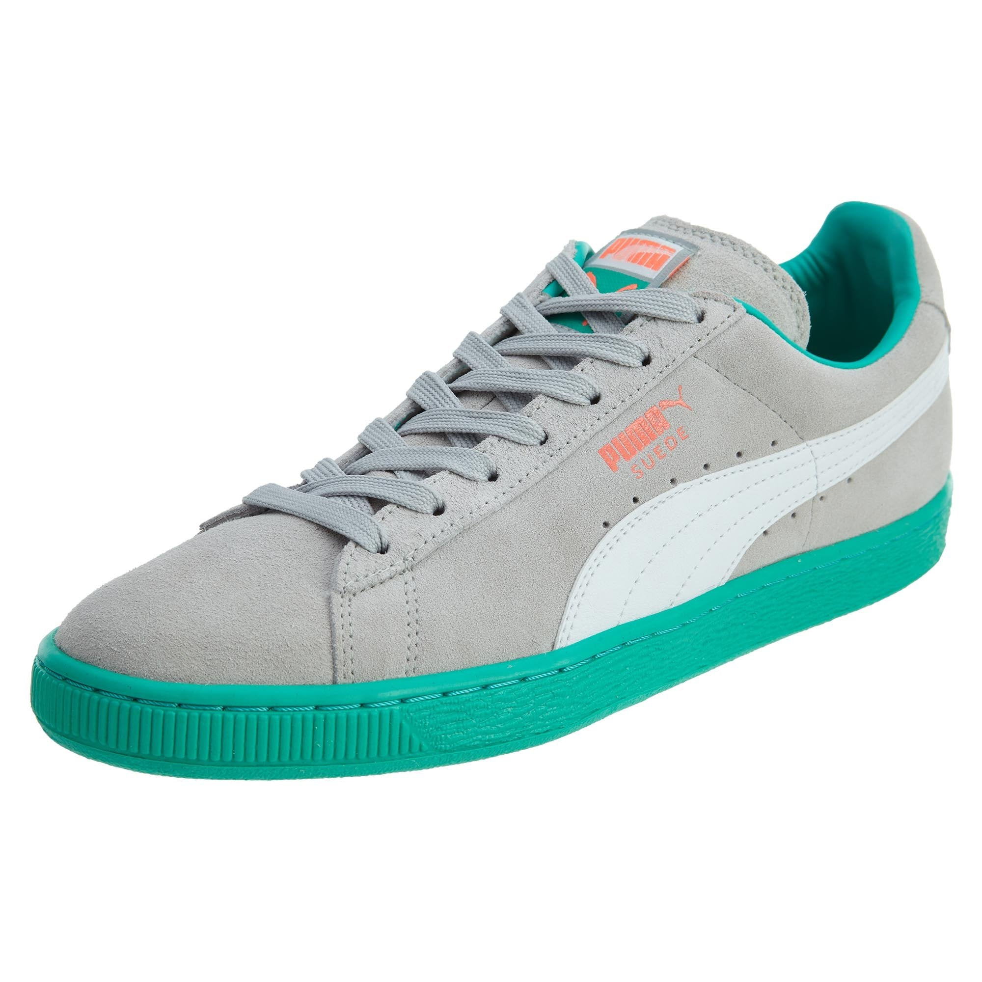 latest trends of 2019 first look newest style of Puma SUEDE CLASSIC+LFS Men's - GRAY VIOLET-WHITE-FLUO TEAL