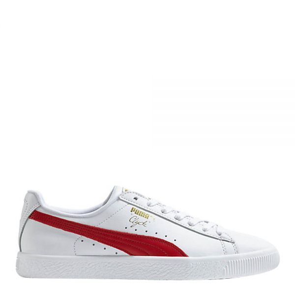 Puma CLYDE CORE L FOIL Men's - WHITE-BARBADOS CHERRY-GOLD - Moesports