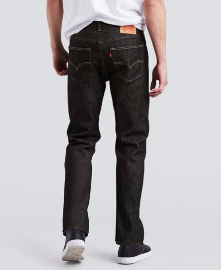 Levis Strauss & Co - 501 ORIGINAL STRAIGHT LEG Men's - DENIM BLACK - Moesports