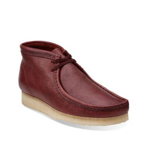 Clark's WALLABEE BOOT Men's - BURGUNDY LEATHER - Moesports