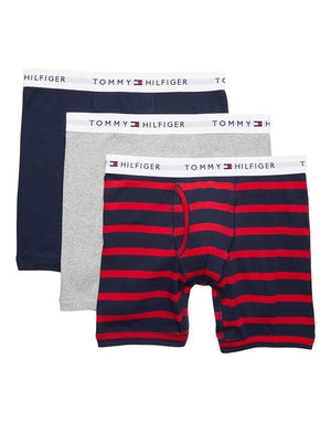Tommy Hilfiger BOLD COTTON 3 PACK CLASSIC BOXER BRIEF Men's - BABY BLUE/NAVY/RED/WHITE - Moesports