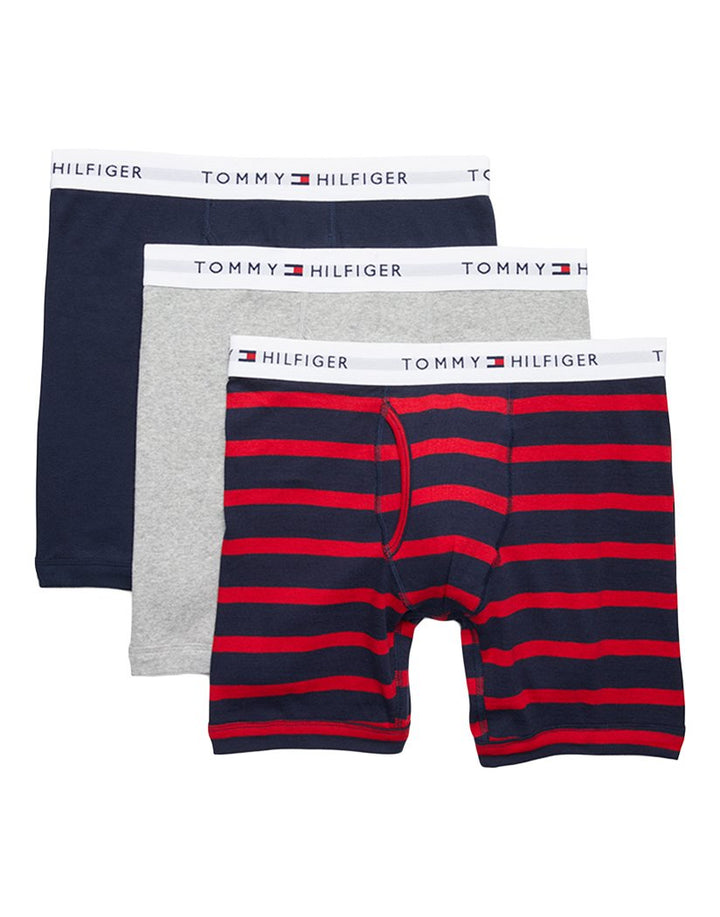 Tommy Hilfiger BOLD COTTON 3 PACK CLASSIC BOXER BRIEF Men's - BABY BLUE/NAVY/RED/WHITE