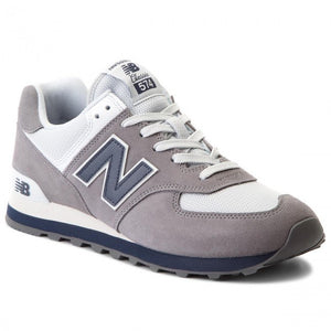 New Balance 574 Classics Men's - GRAY/WHITE/NAVY - Moesports